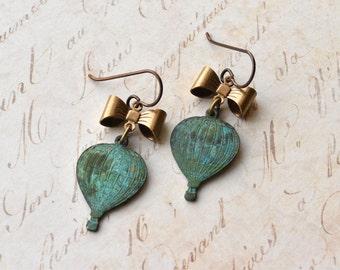Earrings - Hot Air Balloon - Hypoallergenic - Niobium Earrings - Dangle Earrings - Balloon Jewellery