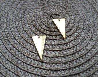 The sequin fine golden brass triangle pendant