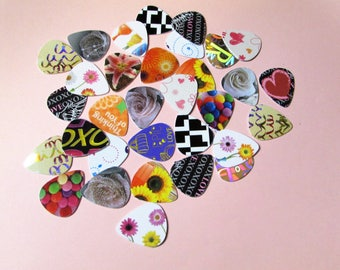 Bulk Guitar Picks Recycled Mixed Bass Banjo Mandolin Ukalele Gift Musician Accessory Instrument