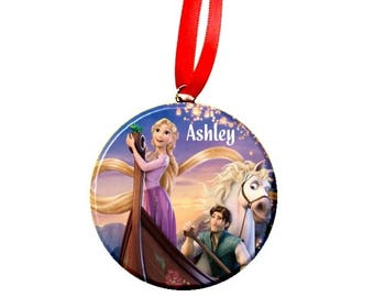 Personalized Tangled Rapunzel Boat Christmas Tree Ornament