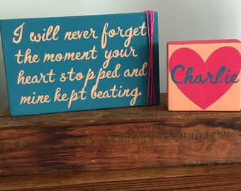 Inspired by Charlie // Infant Loss, Miscarriage, Stillbirth, Sympathy Gift
