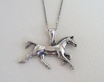 Silver Horse Necklace - Horse Pendant - Silver Horse Necklace - Silver Necklace - Silver Jewelry - Horse Jewelry - Sterling Silver Jewelry
