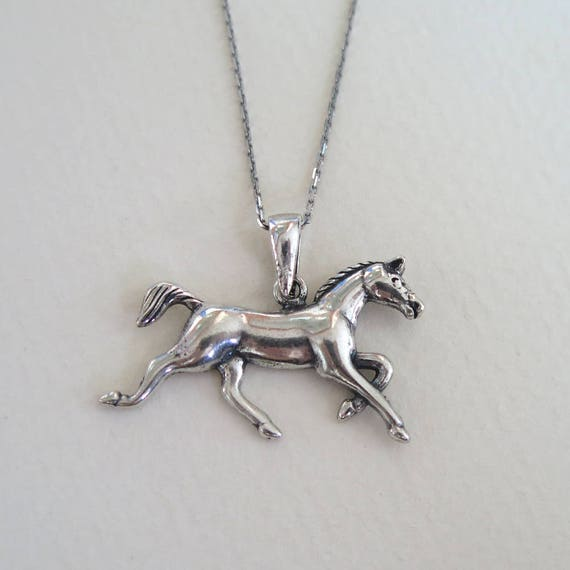 Silver horse necklace horse pendant silver horse necklace like this item aloadofball Gallery