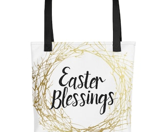 Easter Blessings Easter Tote Easter Bag Easter Tote Bag Easter Totebag Spring Tote Spring Bag Spring Totebag Spring Tote Bag