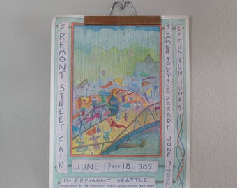 1989 Fremont Fair Poster Signed by the Artist