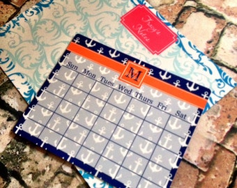 Personalized Magnetic Dry Erase Memo Board - 2 Sizes Available - Choice of Pattern, Color, Frame, Monogram - Custom Gift