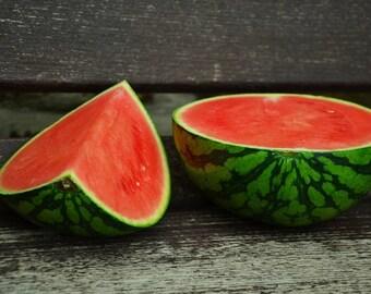 Watermelon Sugar Baby 25+ seeds - heirloom seeds - vegetable seeds - garden seeds - watermelon seeds - round watermelon - small watermelon