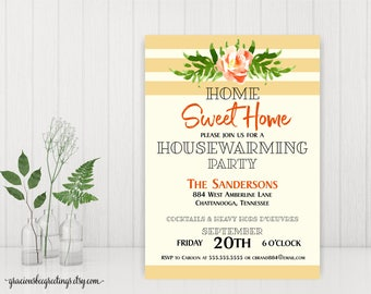 Housewarming Party Invitations, Home Sweet Home, New Home Party, Open House Invite, Welcome Home Party, H32003
