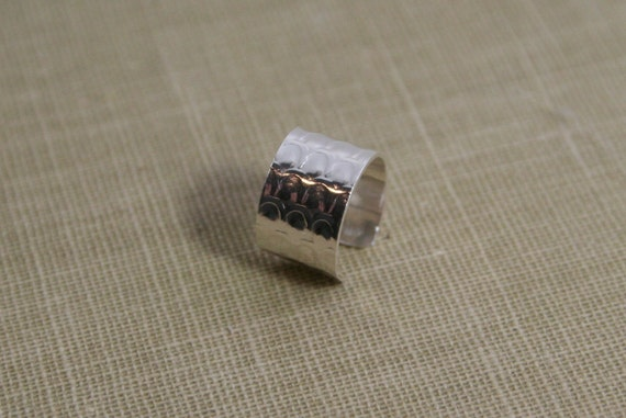 Dragon Scales Wide Sterling Silver Ear Cuff- Faux Piercing