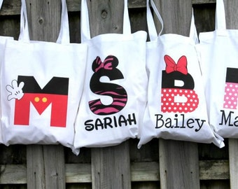 Personalized Mickey Mouse Tote Bags!