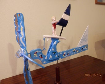 Windsurfer Chick Whirligig