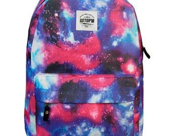Cosmos Backpack Laptop Backpack Canvas Backpack Mens Backpack Backpack Men Backpack Laptop Handmade Backpack Eco Vegan Backpack Rucksack