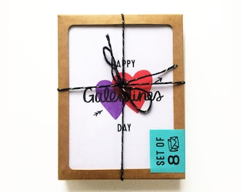 SET of 8 Galentines Day Cards - 4 styles
