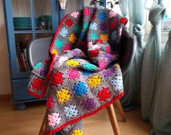 "Granny square blanket ""Gloria"""