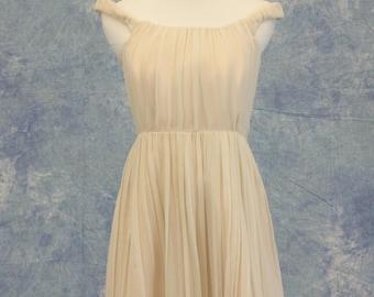 Natural Tone Off-Shoulder Bridesmaid Dress Short Formal Bat Mitzvah Homecoming SAMPLE SALE!