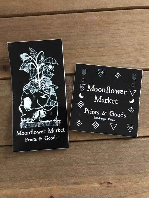 Moonflower Market Shop Stickers