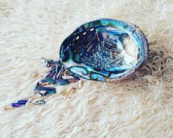 Large Abalone Shell, Smudge kit Shell, Organic Abalone Shell, Smudge Stick holder, DIY Smudge Kit