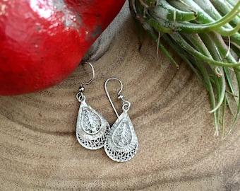 Vintage Silver Earrings for Repair