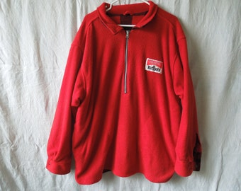 90s Marlboro Plaid Reversible Fleece Pullover