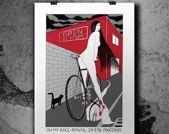 OH MY BIKE - Hadpulled Silkscreen Poster - #spot
