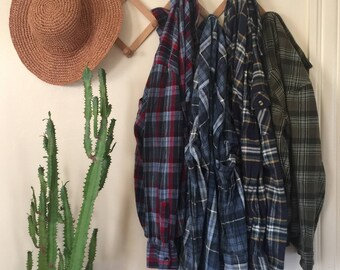 Vintage Flannel | Unisex | Fall and Winter Flannels | Vintage Clothing | You Pick Your Size