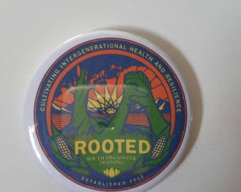 Los Angeles Rooted Button