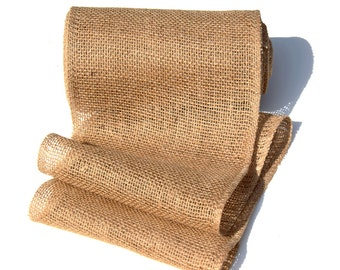 """SALE: 9"""" x10 Yards Burlap Jute Garland Ribbon for Table Runner, Christmas Decorations, Rustic Wedding Decor, Craft Projects"""