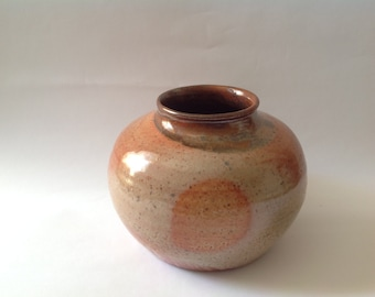 Fired Kissed Carbon Trap Vase