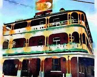 Watercolor Print - Story Bridge Hotel Brisbane - Cityscape
