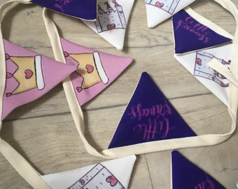 Princess,little princess, bunting, nursery decor, for baby girls, princess garland, for bedrooms