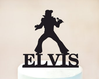 Elvis Cake topper,elvis birthday Cake topper,rock n roll party,Birthday cake topper,Birthday cake decoration,personalized cake topper 1043