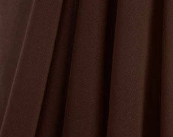 Knee Length Chiffon Ballet Skirt in Chocolate (Pull Up)