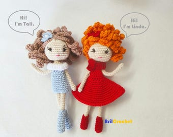 Doll amigurumi, Crochet doll, custom doll