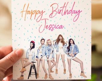 Personalised EXID K-Pop Birthday Card