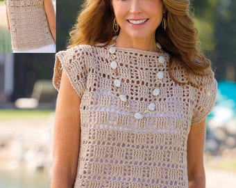 Crochet Pattern - Womens Top/Tunic - perfect for Summer Vacations Download