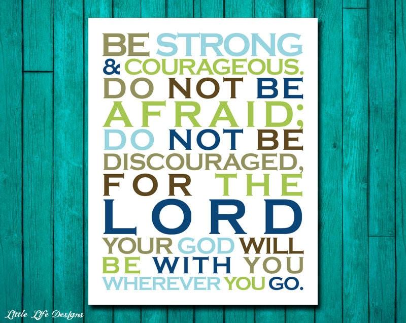 Joshua 1:9. Scripture. Bible Verse. Christian Art. Little Boys