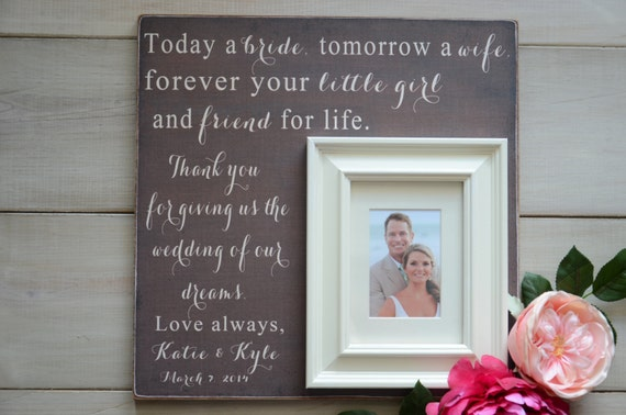 TODAY A BRIDE Tomorrow A Wife Forever Your Little Girl