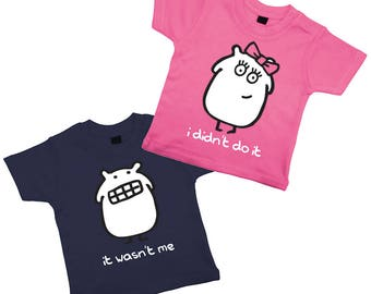 Kids T Shirt Set Matching T Shirts T-Shirt Set Brother Sister T-Shirts Siblings Siblings T-Shirt Set Funny T-Shirts Ethical Clothing 