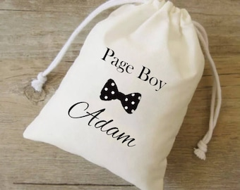 Page boy bag, page boy gift, ring bearer bags, personalised page boy,page boy tote,page boy, ring bearer, ring bearer favor,ring bearer gift