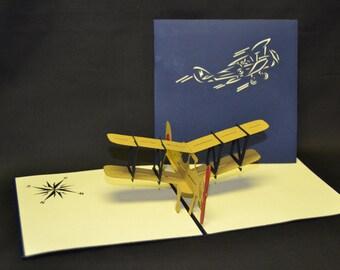 3-D Airplane Pop-Up Card