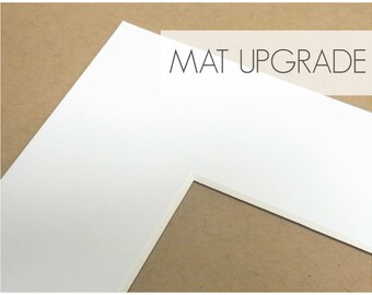 Upgrade: Add a Mat to 4x6 Prints, Photo Print Mat, Mat with Backer Board