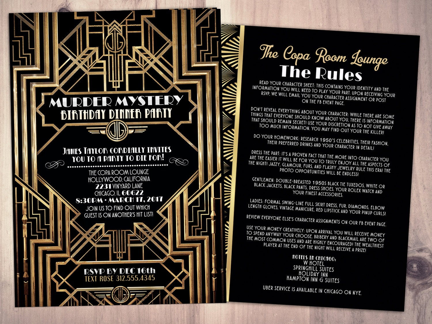 Murder mystery dinner party invitation vintage party zoom stopboris Choice Image