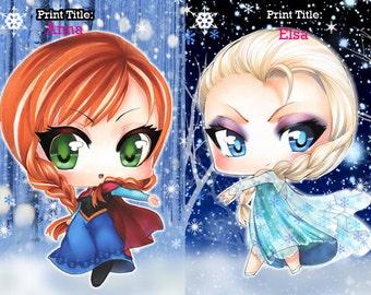 Frozen Chibi Prints