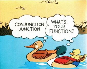SchoolHouse Rock - Conjunction Junction Ducks - Poster / Print