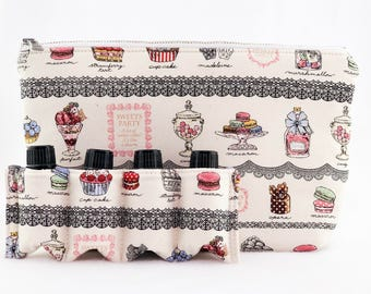 Essential Oil Bag/ Essential Oil Travel Bag/ Essential Oil Pouch/ Essential Oil Carry Bag/ Essential Oil Case - Dessert Bliss