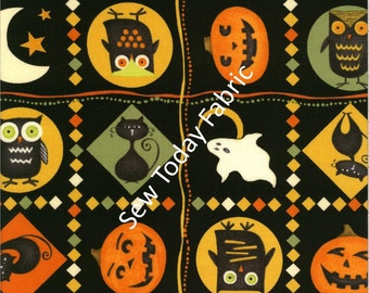 Scaredy Cats Patches Multi - Wilmington Prints Q1862-67509-987 (sold by the 1/2 yard)