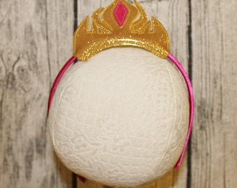 Sleeping Beauty Aurora Inspired Tiara Crown Fancy for Children and or 18 inch doll Disney Inspired