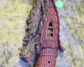 cottonwood bark hobit house wall hanging