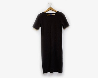 Lands End Black T Shirt Dress S