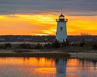 Sunrise on the Edgartown Lighthouse Martha's Vineyard, Edgartown Lighthouse, Martha's Vineyard, Cape Cod, Sunrise